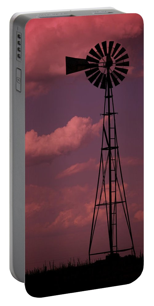 Wind Portable Battery Charger featuring the photograph Purple Wind by Ricky Barnard