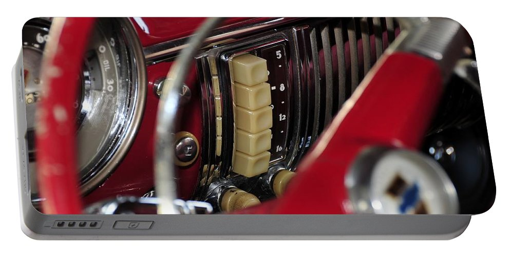 Antic Car Portable Battery Charger featuring the photograph Push Buttons by David Lee Thompson
