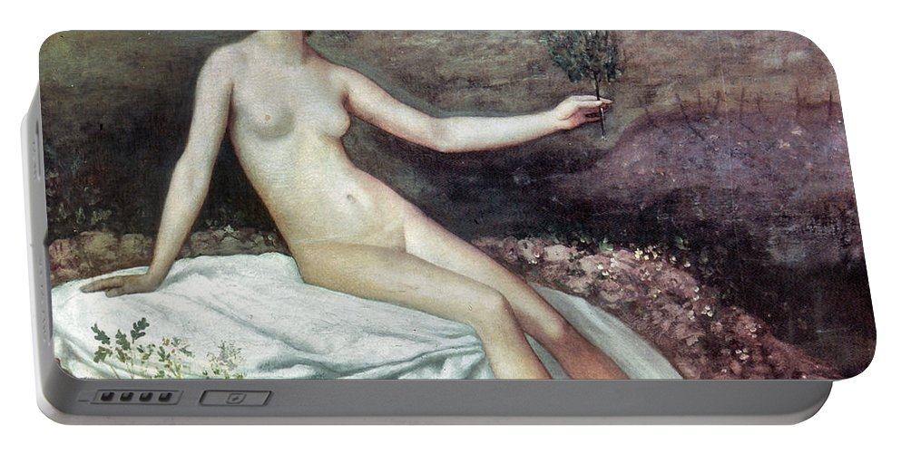 19th Century Portable Battery Charger featuring the painting Puvis De Chav: Lesperance by Granger