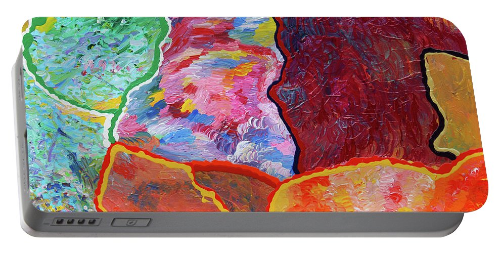 Fusionart Portable Battery Charger featuring the painting Puzzle by Ralph White