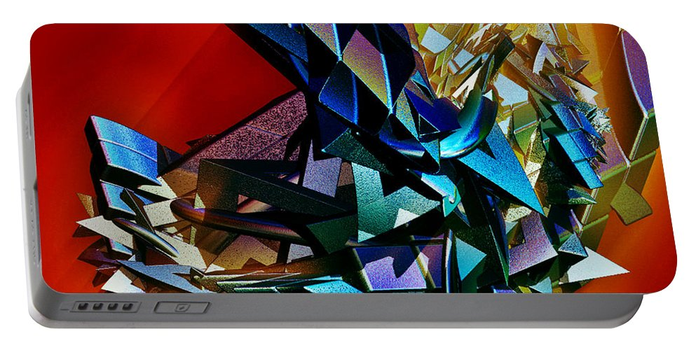 Shapes Portable Battery Charger featuring the digital art Puzzled by Sara Raber