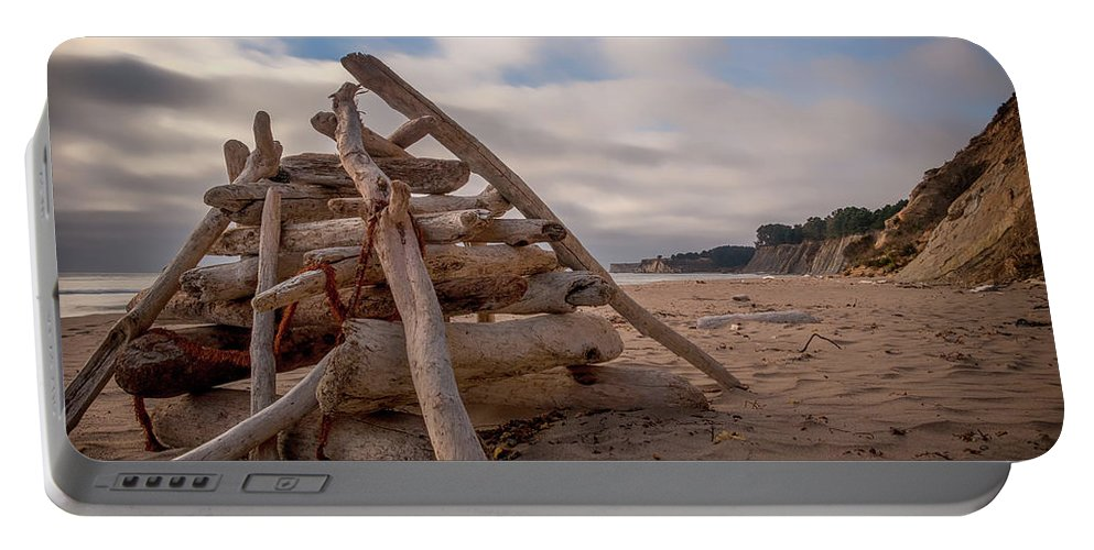 California Portable Battery Charger featuring the photograph Pyramid In The Sand by Marnie Patchett