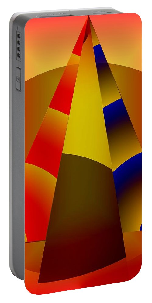 Pyramids Portable Battery Charger featuring the digital art Pyramids Pendulum by Helmut Rottler