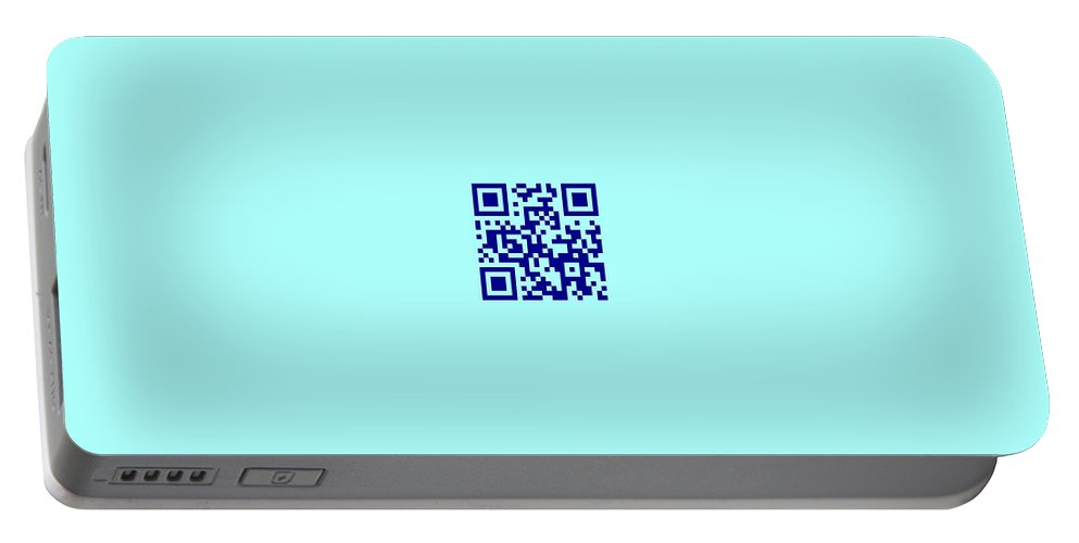 Portable Battery Charger featuring the photograph Qr Code by Michael Peychich