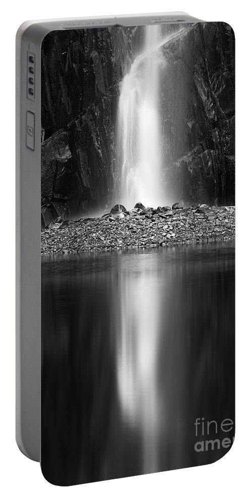 Quarry Waterfall Portable Battery Charger featuring the photograph Quarry Waterfall by Tony Higginson