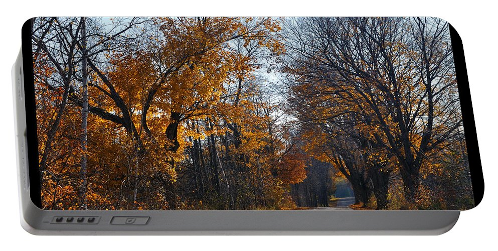 Road Portable Battery Charger featuring the photograph Quarterline Road by Tim Nyberg
