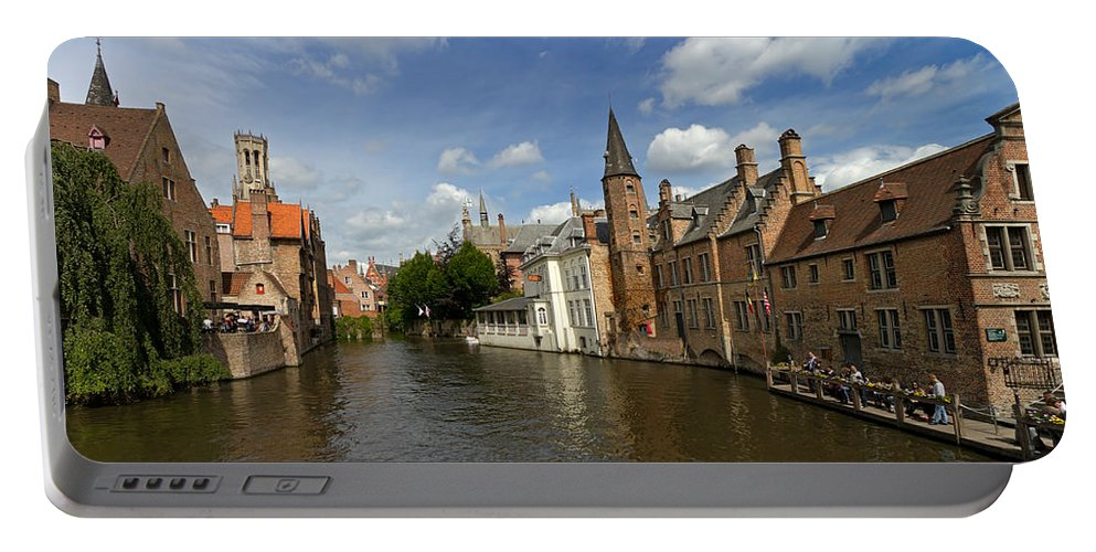 Quay Of The Rosary Portable Battery Charger featuring the photograph Quay Of The Rosary In Bruges Belgium by Louise Heusinkveld