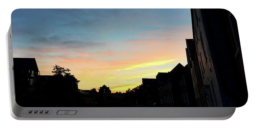 Quayside Portable Battery Charger featuring the photograph Quayside Sunrise 4 by Rob Murphy