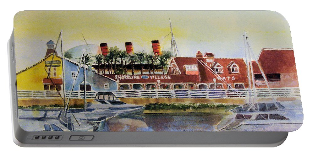 Watercolor Portable Battery Charger featuring the painting Queen Of The Shore by Debbie Lewis
