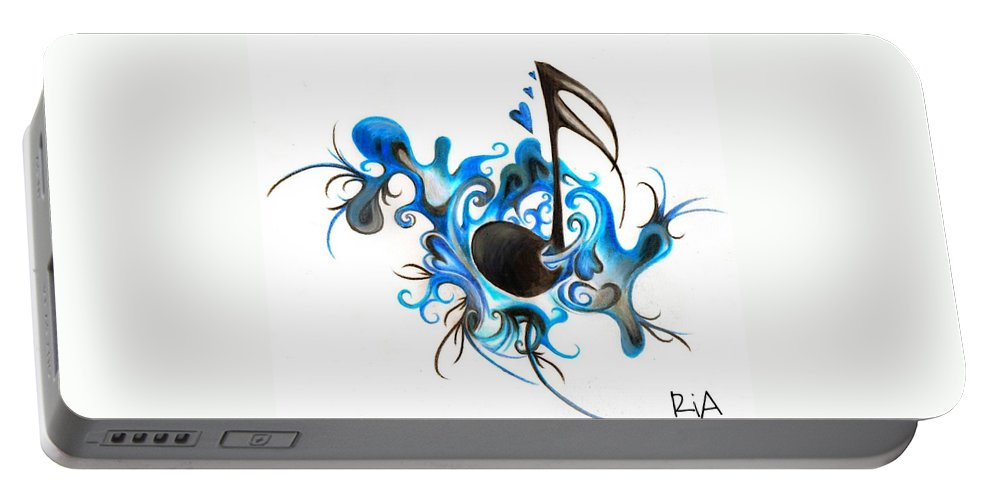 Music Portable Battery Charger featuring the photograph Quenched by Music by Artist RiA