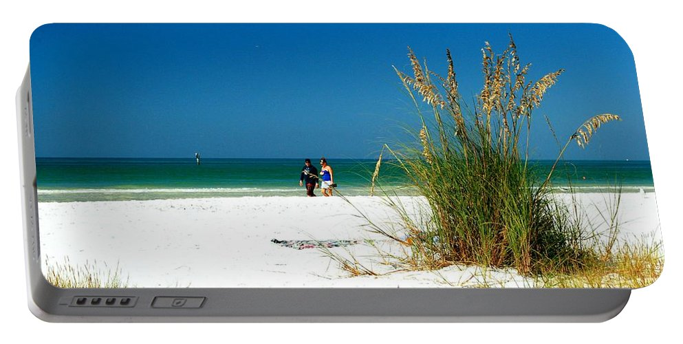 Beach Portable Battery Charger featuring the photograph Quiet Beach Scenic by Gary Wonning