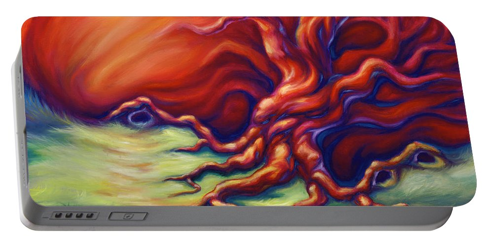 Oil Painting Portable Battery Charger featuring the painting Quiet Place by Jennifer McDuffie