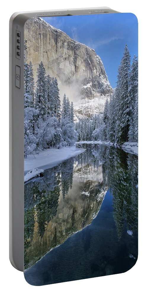 Yosemite National Park Portable Battery Charger featuring the photograph Quiet Winter Morning by Brenda Tharp