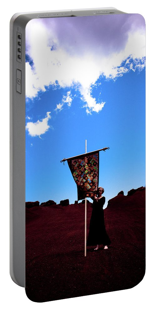 Quilt Portable Battery Charger featuring the photograph Quilted Sky by Scott Sawyer