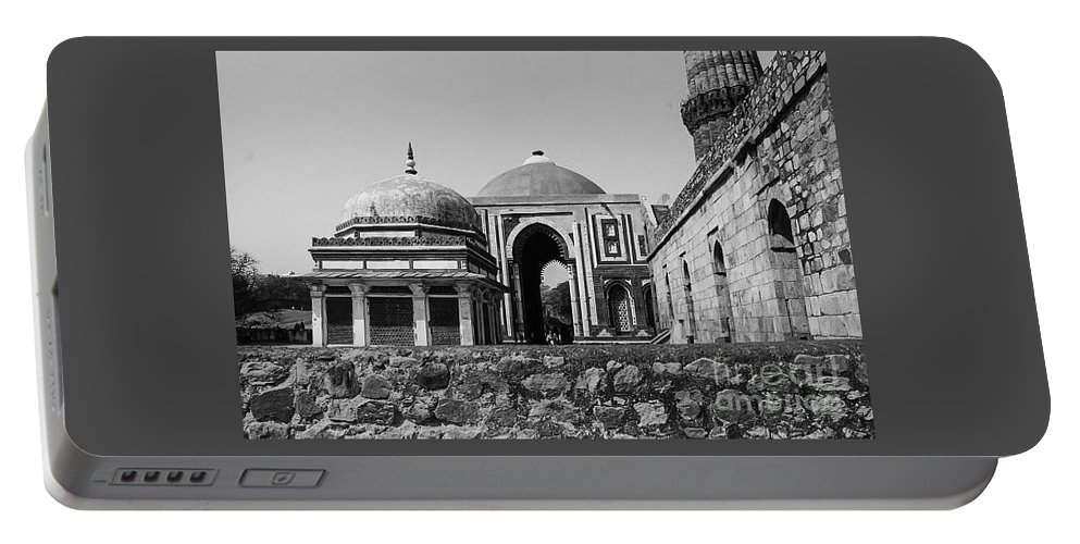 Landscape Portable Battery Charger featuring the photograph Qutab Minar Pt 2 by Taylor McLaurin