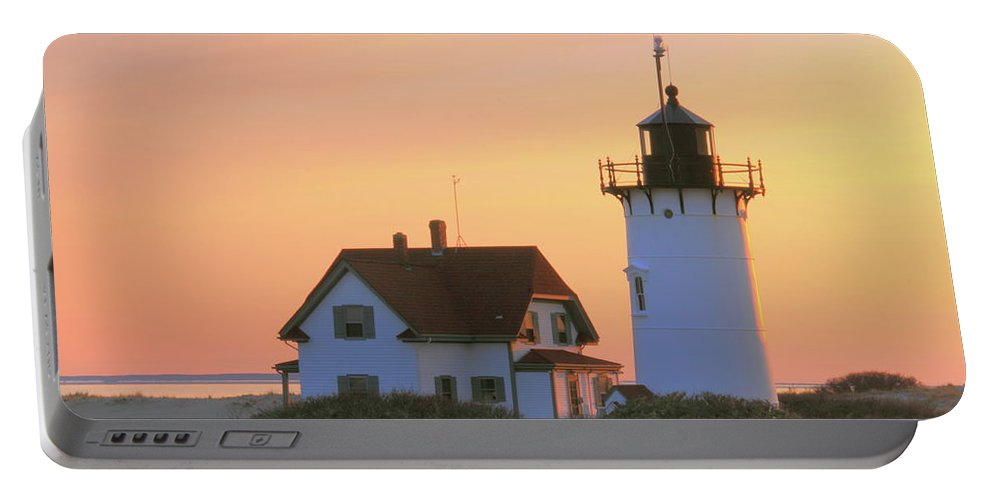Lighthouse. Light Portable Battery Charger featuring the photograph Race Point Light by Roupen Baker
