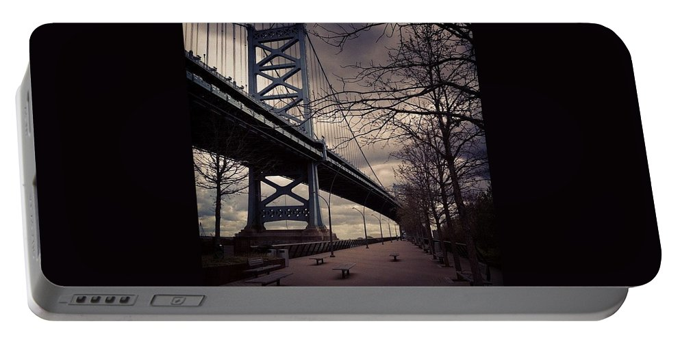 Philly Portable Battery Charger featuring the photograph Race Street Pier by Katie Cupcakes