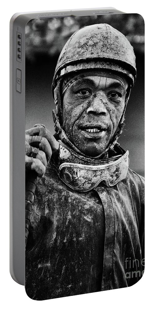 Jockey Portable Battery Charger featuring the photograph Racetrack Heroes 5 by Bob Christopher