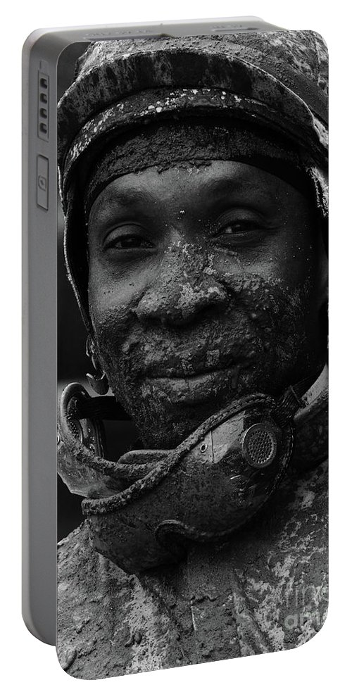 Jockey Portable Battery Charger featuring the photograph Racetrack Heroes 8 by Bob Christopher