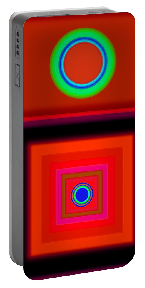 Classical Portable Battery Charger featuring the digital art Radio Palladio by Charles Stuart
