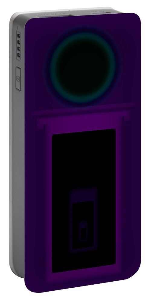 Palladian Portable Battery Charger featuring the painting Radio Purple Palladio by Charles Stuart