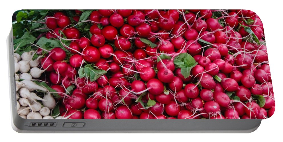 Radish Portable Battery Charger featuring the photograph Radishes by Thomas Marchessault