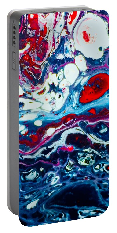 Acrylic Portable Battery Charger featuring the mixed media Raging Storm by B R Wiatrek