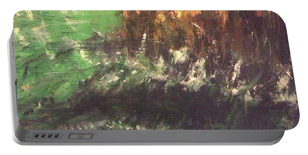 Raging Waters By Reed Novotny Portable Battery Charger featuring the painting Raging Waters by Reed Novotny