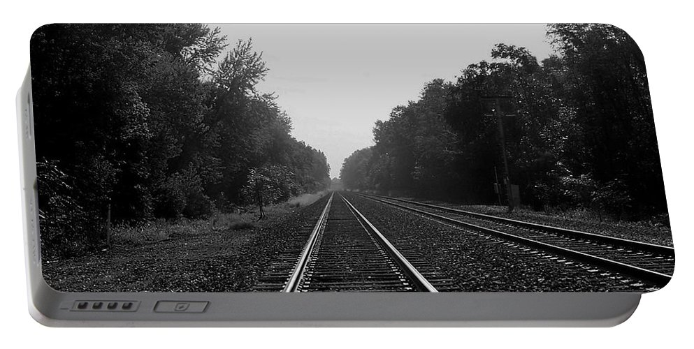 Railroad Portable Battery Charger featuring the photograph Railroad To Nowhere by Trish Tritz