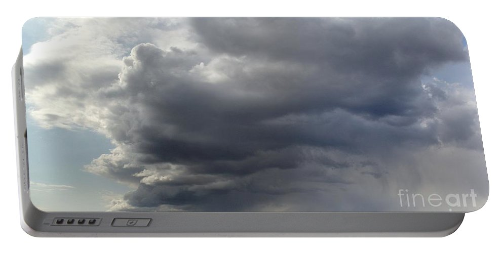 Clouds Portable Battery Charger featuring the photograph Rain Cloud Near Miss by Ron Bissett