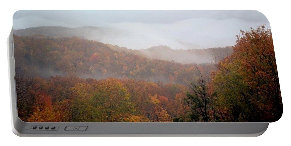 Great Smoky Mountain Portable Battery Charger featuring the photograph Rain In Smokies by Deepa Sahoo