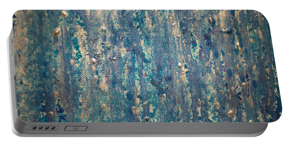 Painting Portable Battery Charger featuring the photograph Rain by Misty Tienken