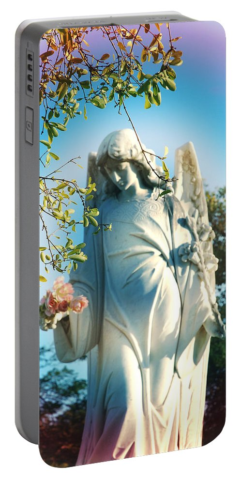 Angel Portable Battery Charger featuring the photograph Rainbow Angel by Susanne Van Hulst