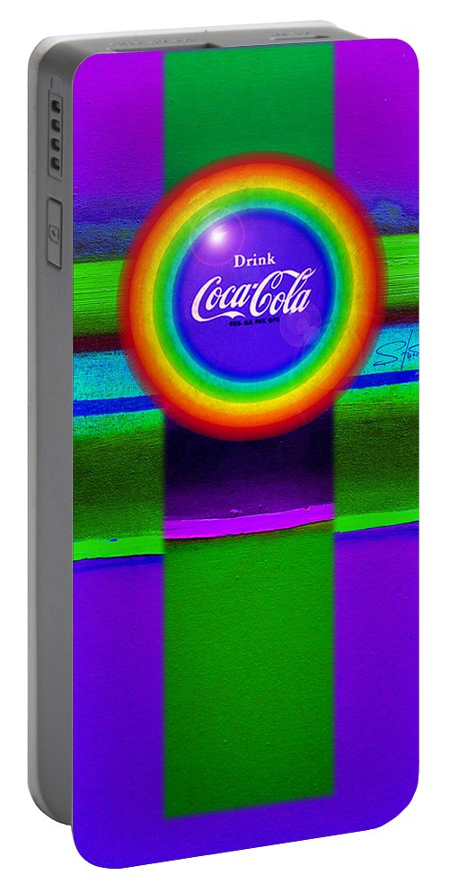 Violet Portable Battery Charger featuring the painting Rainbow by Charles Stuart