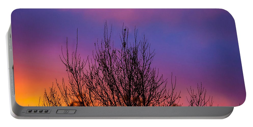 New York City Portable Battery Charger featuring the photograph Rainbow Clouds by Az Jackson