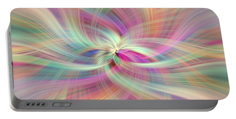 Jenny Rainbow Fine Art Photography Portable Battery Charger featuring the photograph Rainbow Colored Abstract. Concept Divine Virtues by Jenny Rainbow