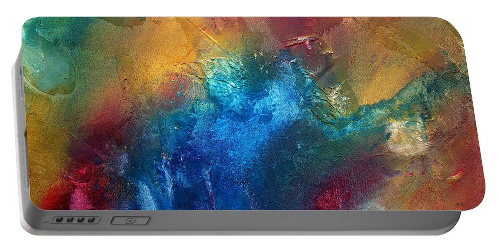 Wall Portable Battery Charger featuring the painting Rainbow Dreams II By Madart by Megan Duncanson