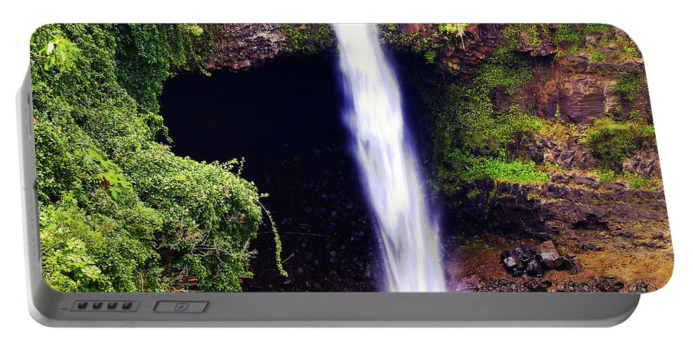 Waterfall Photography Portable Battery Charger featuring the photograph Rainbow Falls Iv by Patricia Griffin Brett