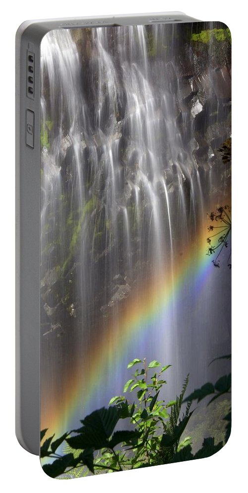 Waterfall Portable Battery Charger featuring the photograph Rainbow Falls by Marty Koch