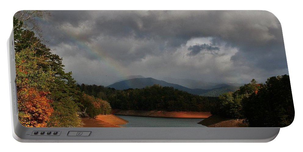 Rainbow Portable Battery Charger featuring the photograph Rainbow In North Carolina by Vice Photo