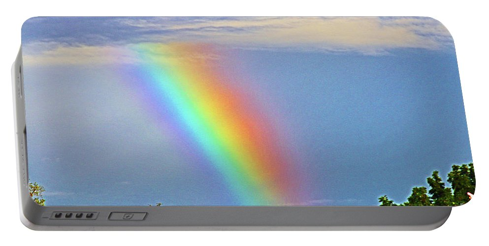 Nature Portable Battery Charger featuring the photograph Rainbow In The Sky by Don Baker