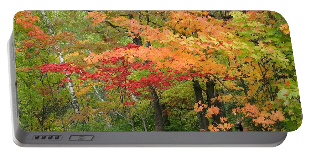 Fall Portable Battery Charger featuring the photograph Rainbow by Kelly Mezzapelle