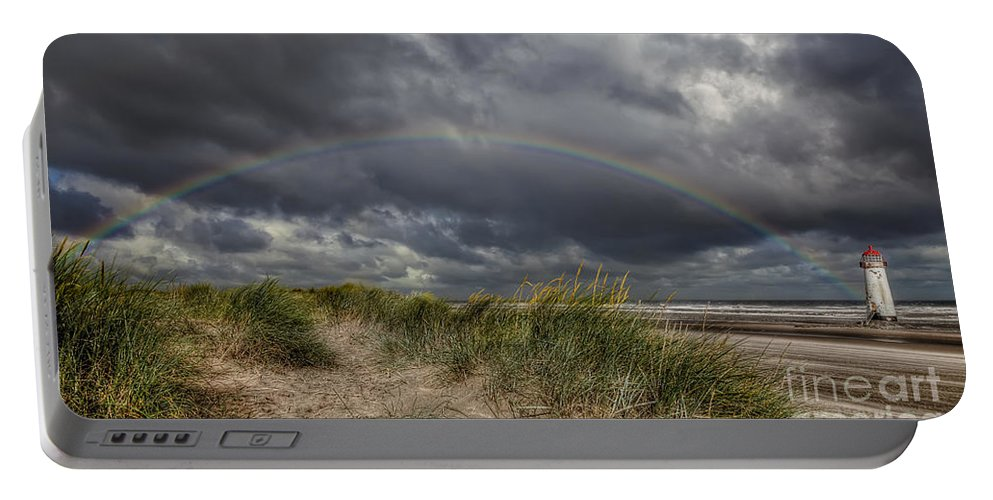 Rainbow Portable Battery Charger featuring the photograph Rainbow Lighthouse by Adrian Evans