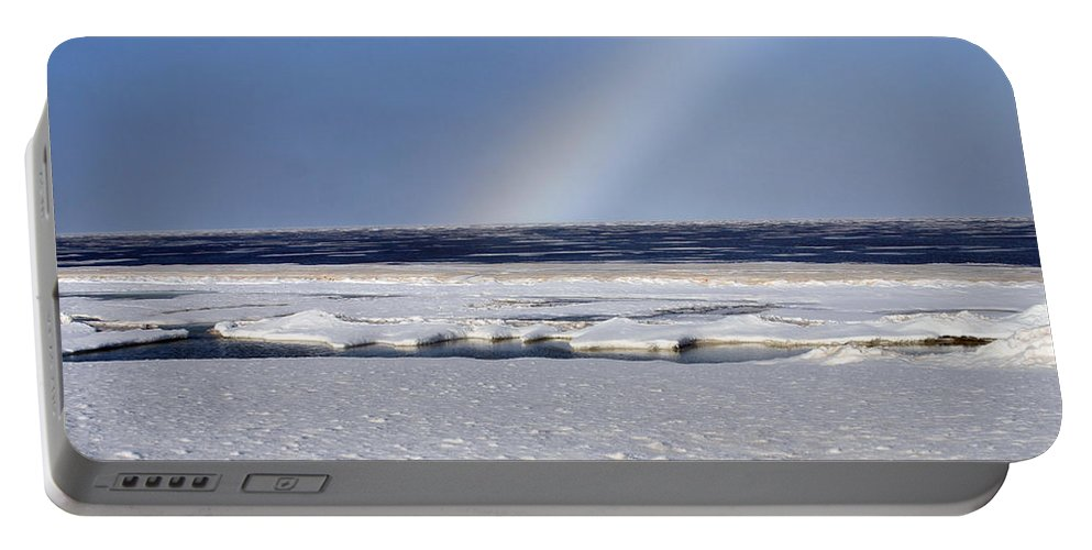 Rainbow Portable Battery Charger featuring the photograph Rainbow Over The Arctic by Anthony Jones