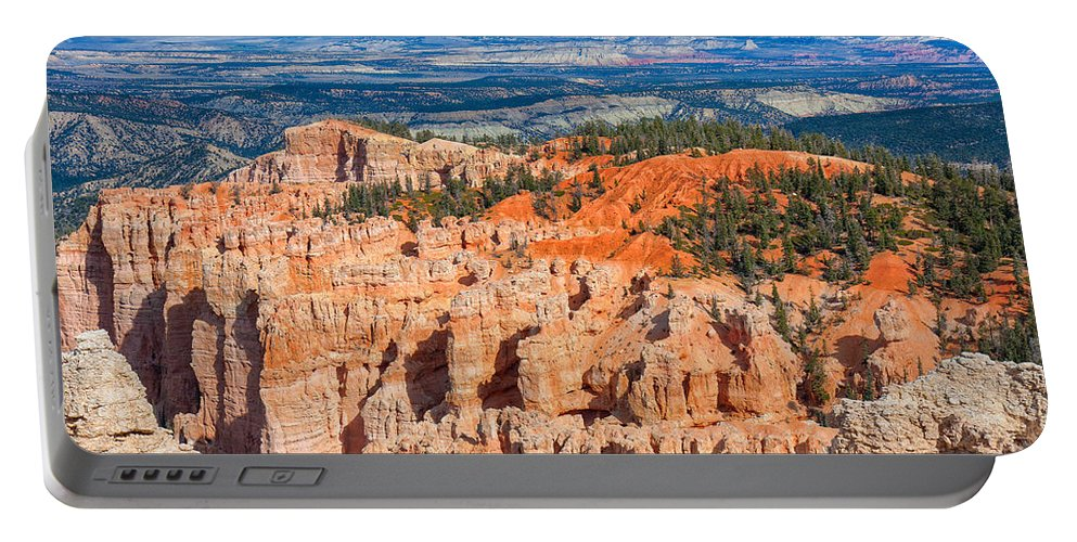Landscape Portable Battery Charger featuring the photograph Rainbow Point Panorama by John M Bailey