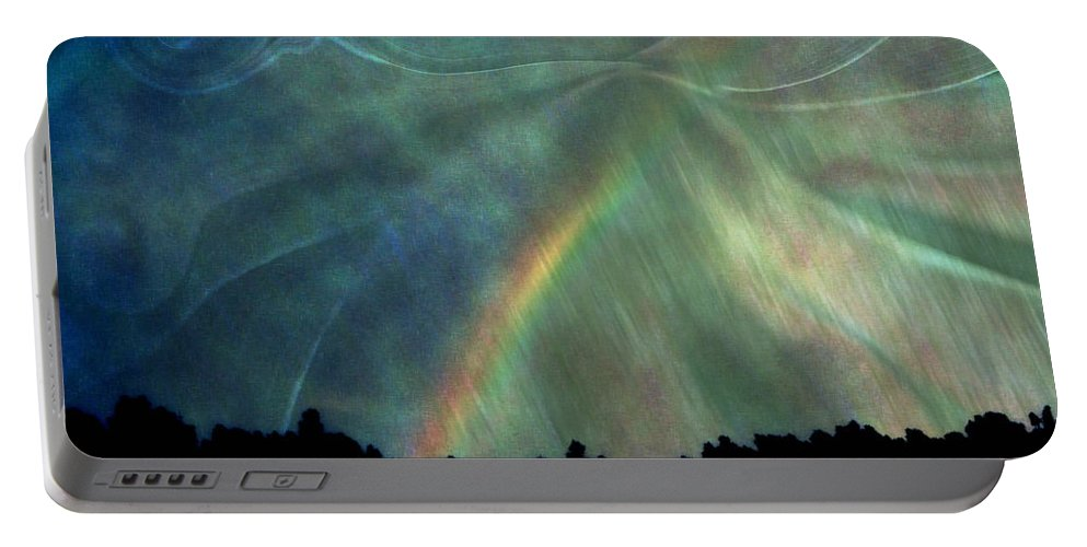 Nature Portable Battery Charger featuring the photograph Rainbow Showers by Linda Sannuti