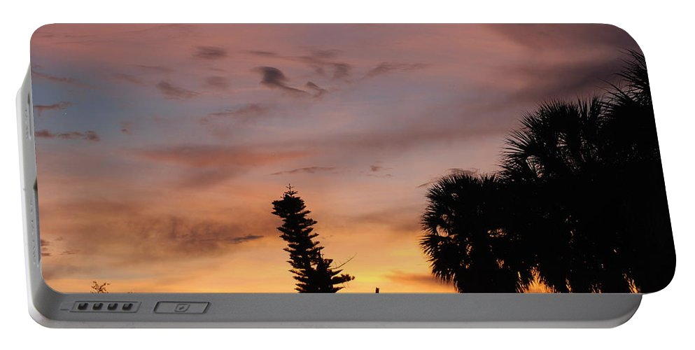 Sunset Portable Battery Charger featuring the photograph Rainbow Sunset by Rob Hans