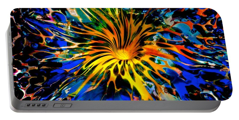 Starved Rock Hot Glass Portable Battery Charger featuring the photograph Rainbow Thunder Well by Tim G Ross