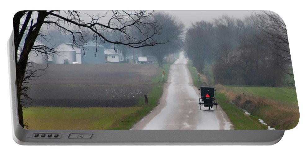 Amish Portable Battery Charger featuring the photograph Rainy Amish Day by David Arment