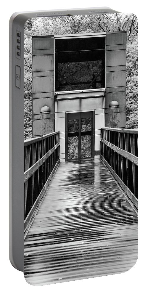 Steven Bateson Portable Battery Charger featuring the photograph Rainy Day At Crystal Bridges by Steven Bateson